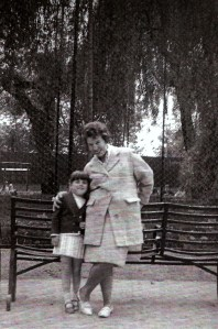 auntie zonya and me at london zoo June 1965